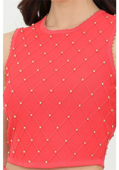 Top woman amaranto elisabetta franchi knit with studs ELISABETTA FRANCHI | Top | TK26B11E2620