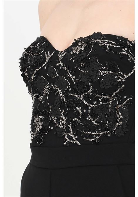 Tuta donna nero elisabetta franchi elegante ricamata ELISABETTA FRANCHI | Tute | TU26113E2110