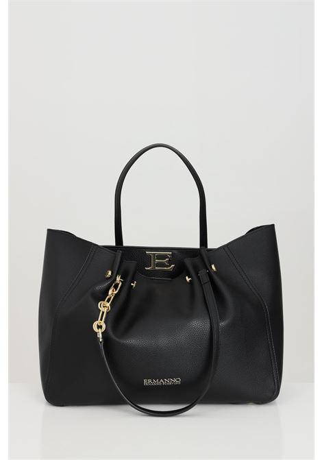 Black Giovanna Shopping Bag, shopper model in faux leather, golden metal details, multifunction inner pocket, automatic closing. Ermanno scervino Ermanno scervino | Bag | 12401144293