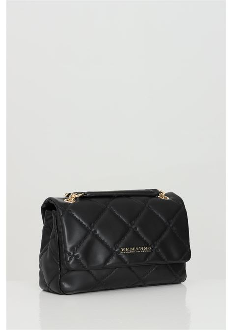 Black bag with chain shoulder strap. Two compartments with zip. Magnetic button closure. Ermanno scervino Ermanno scervino | Bag | 12401172293