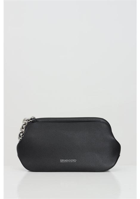 Black bag with shoulder strap in silver chain. Magnet opening. Iconic logo Ermanno Scervino on the front Ermanno scervino | Bag | 12401180293