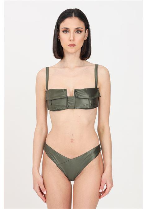 Bikini reggiseno e slip donna verde f**k modello americano F**K | Beachwear | F21-0220VM.