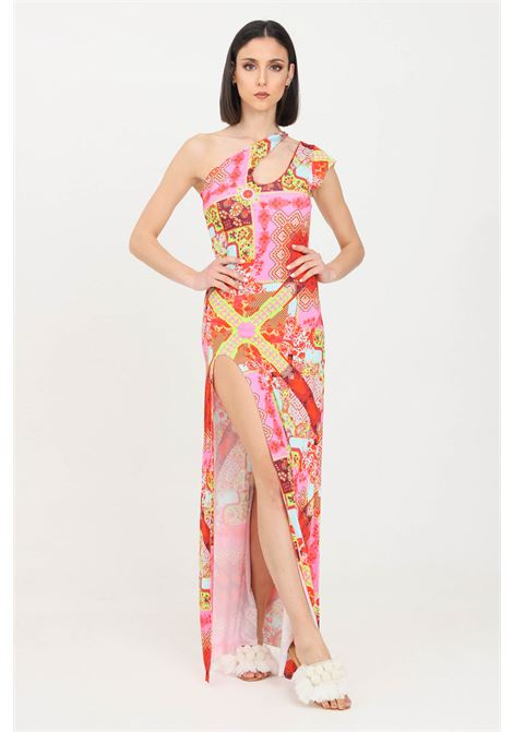 Multicolor swimsuit cover with allover print long model f**k F**K | Outwater | F21-0378X1.