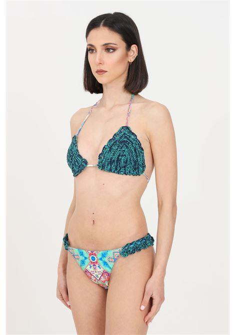 Costume donna multicolor f**k bikini con stampa geometrica F**K | Beachwear | F21-0390X2.