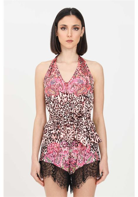 Women's short jumpsuit with allover print f**k mantra F**K | Outwater | F21-0537X1.