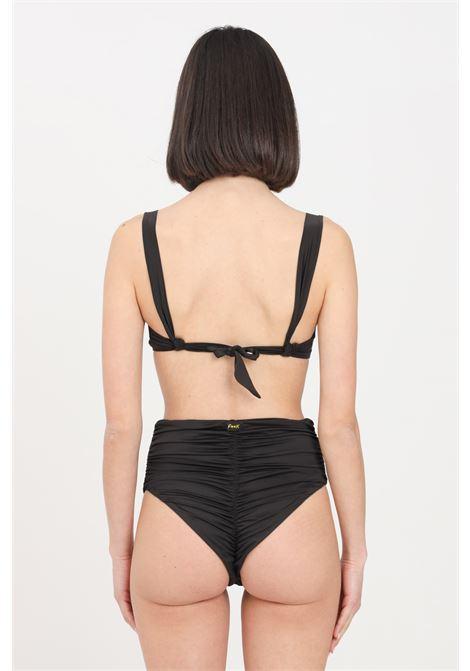 Costume donna nero f**k bikini reggiseno e slip retrò F**K | Beachwear | F21-0571NR.