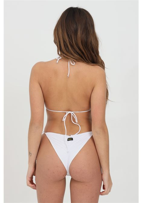 White bikini with laces and central curls. F**k  F**K | Beachwear | F21-0700WH.