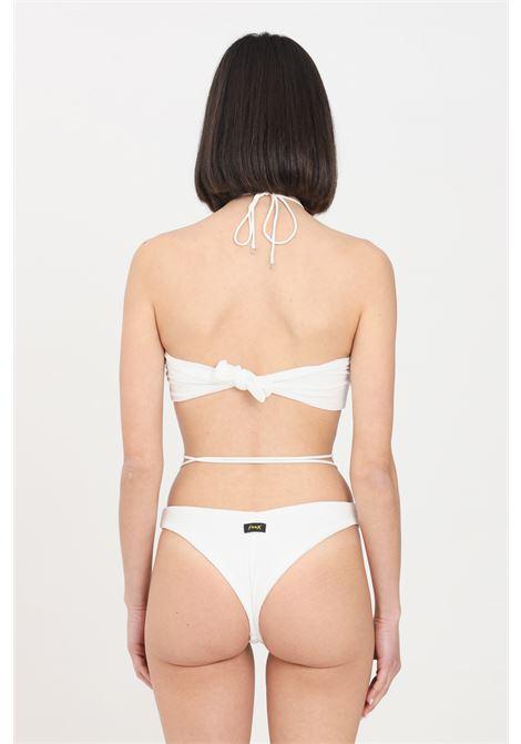 Bikini donna bianco f**k fascia e slip modello brasiliana F**K | Beachwear | F21-0721WH.