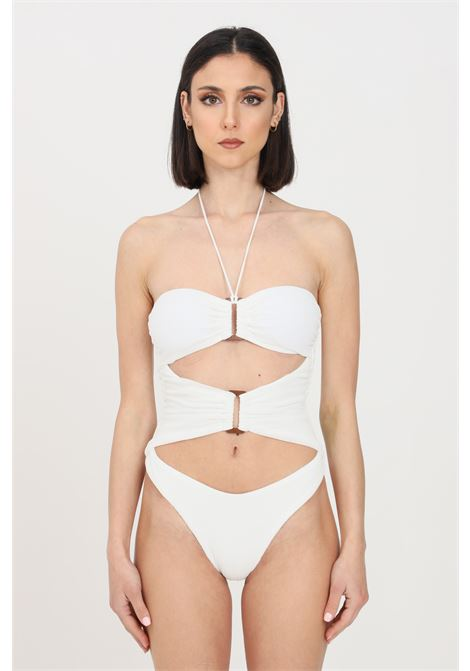 Costume intero donna bianco f**k monokini roam F**K | Beachwear | F21-0722WH.