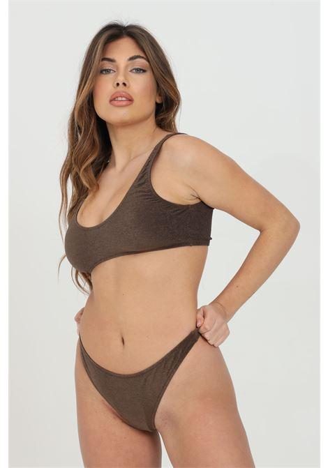 Brown bikini with weave cotton effect, no closures. F**k  F**K | Beachwear | F21-0800MR.