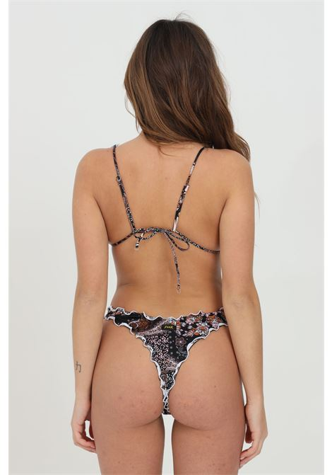 Multicolor bikini with ruffles and closure with laces. F**K F**K | Beachwear | F21-1539U.