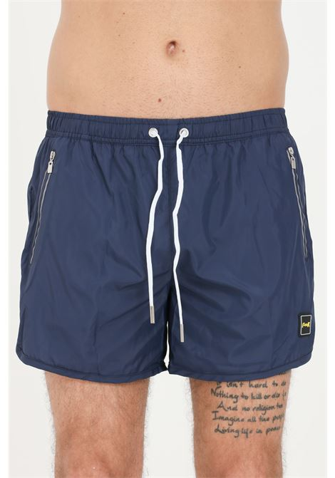 Blue men's beach shorts in solid color f**k F**K | Beachwear | F21-2004BL.