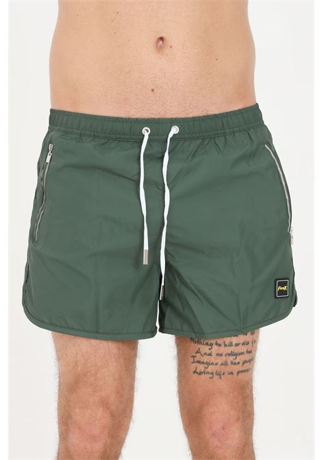 Costume uomo verde f**k shorts mare in tinta unita F**K | Beachwear | F21-2004VS.