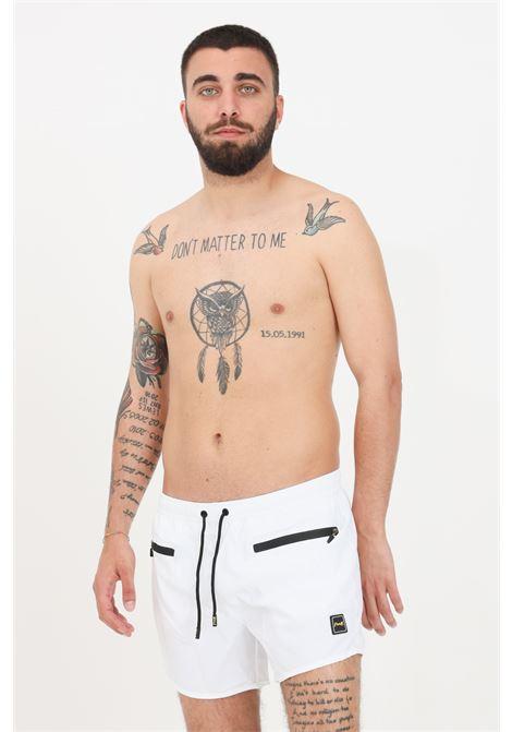 Costume uomo bianco f**k shorts mare F**K | Beachwear | F21-2005WH.