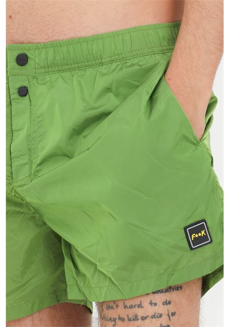 Costume uomo verde f**k shorts mare F**K | Beachwear | F21-2007VE.