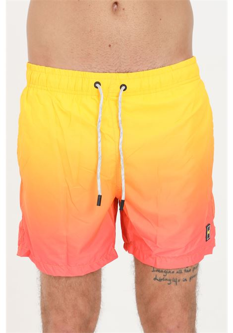 Orange men's beach shorts with side pockets f**k  F**K | Beachwear | F21-2010AR.
