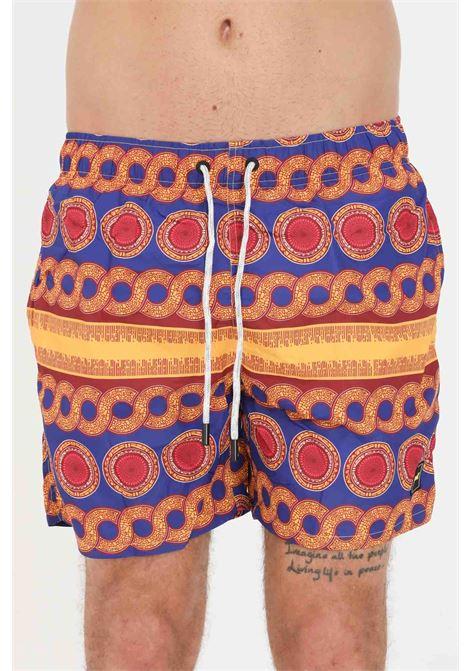 Shorts mare uomo multicolor f**k con stampa allover F**K | Beachwear | F21-2022U.