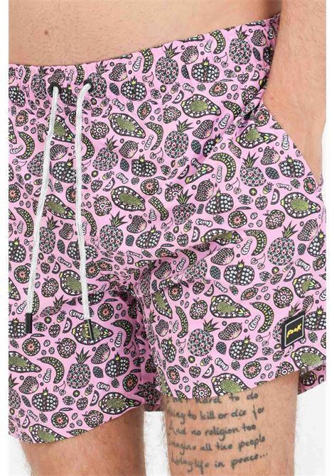Shorts mare uomo lilla f**k con stampa pattern F**K | Beachwear | F21-2030U.