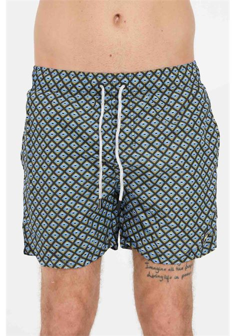 Shorts mare uomo fantasia f**k con stampa F**K | Beachwear | F21-2039U.