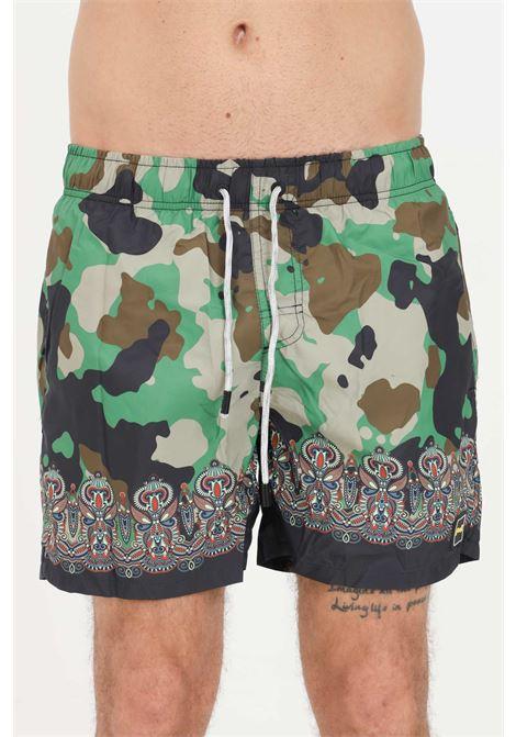 Shorts mare uomo camo F**K F**K | Beachwear | F21-2049U.