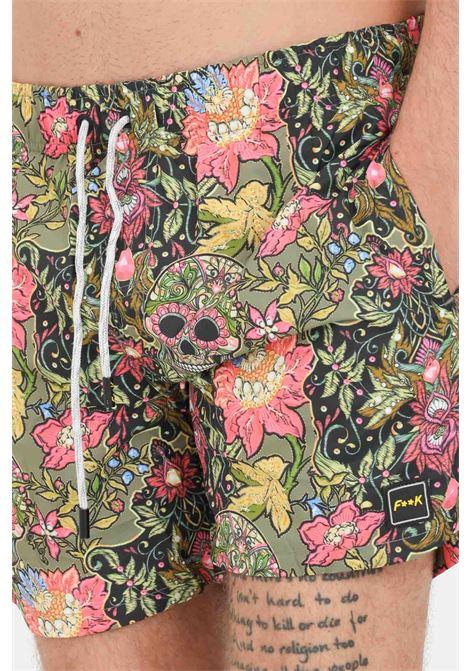 Multicolor men's beach shorts f**k  F**K | Beachwear | F21-2069U.
