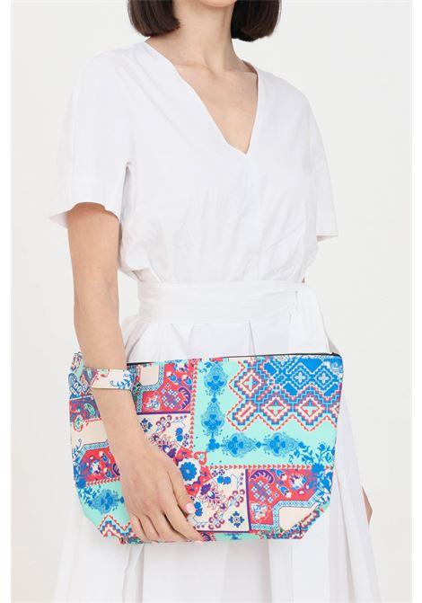 Pochette donna con stampa geometrica  f**k con zip F**K | Borse | F21-A0014U.