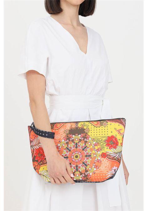 Pochette donna con doppia stampa f**k con zip F**K | Borse | F21-A0016U.