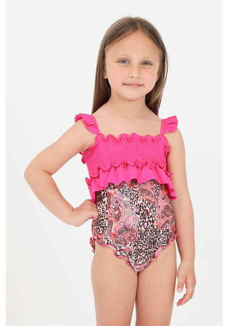 Printed newborn monokini with rouches and elastic f**k  F**K | Beachwear | FJ21-0020X1.