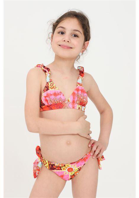 Bikini bambina con stampa fantasy f**k F**K | Beachwear | FJ21-0320X1.