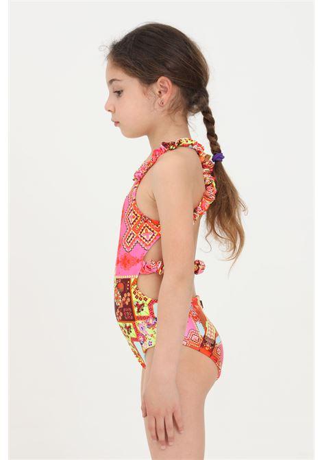 Costume intero bambina f**k con stampa geometrica F**K | Beachwear | FJ21-0322X1.