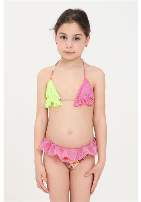 Bikini bambina rosa in lurex f**k F**K | Beachwear | FJ21-0360X1.