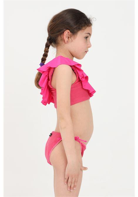Bikini bambina fucsia f**k monospalla F**K | Beachwear | FJ21-0501FX.