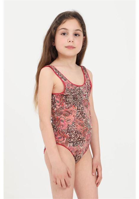 Costume intero bambina animalier f**k mantra F**K | Beachwear | FJ21-0521X1.