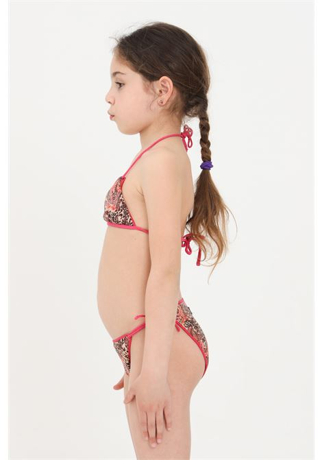 Costume bambina fantasia f**k bikini triangolo e slip con laccetti F**K | Beachwear | FJ21-0522X1.