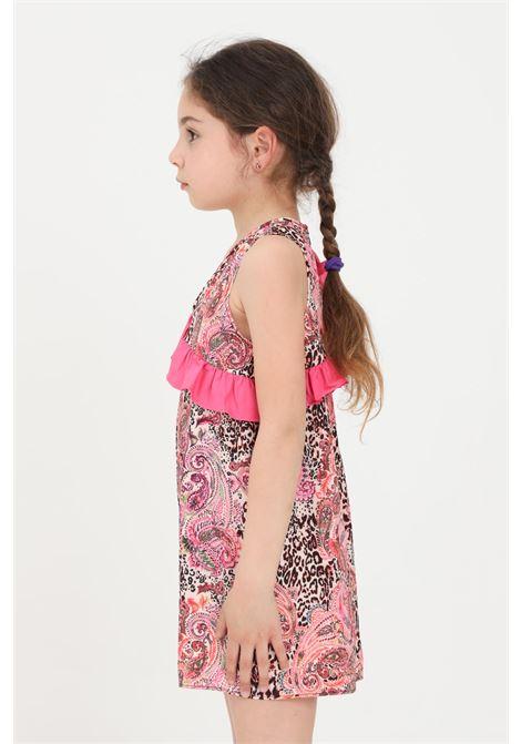 Abito fuoriacqua bambina f**k con rouches e stampa allover F**K | Fuoriacqua | FJ21-0552X1.