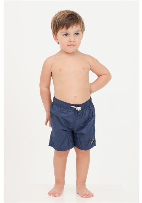 Blue newborn beach shorts with laces f**k F**K | Beachwear | FJ21-3901BL.