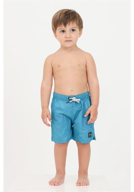 Light blue newborn beach shorts with laces f**k  F**K | Beachwear | FJ21-3901PT.
