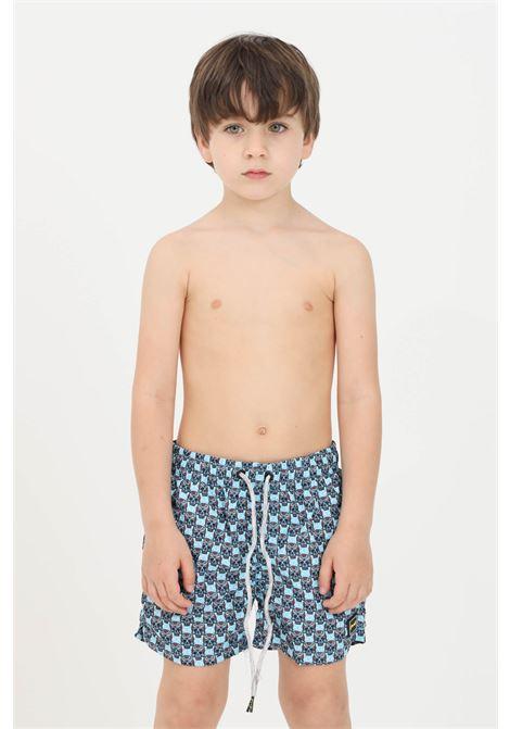 Light blue baby beach shorts f**k F**K | Beachwear | FJ21-4018U.