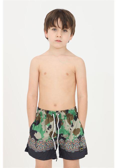 Green baby beach shorts f**k F**K | Beachwear | FJ21-4019U.