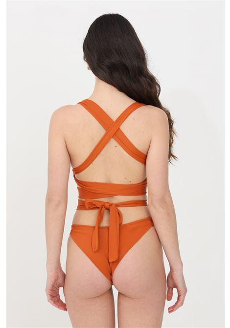 Brown one piece swimsuit feminista FEMINISTA | Beachwear | DEMETRACOCCIO