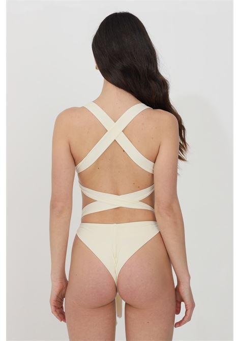 Cream one piece swimsuit feminista FEMINISTA | Beachwear | DEMETRAPANNA
