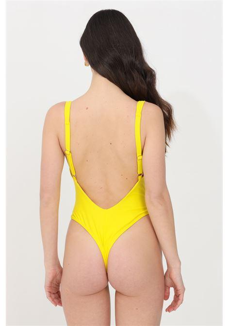 Yellow one piece swimsuit feminista FEMINISTA | Beachwear | GIUNONEGIALLO
