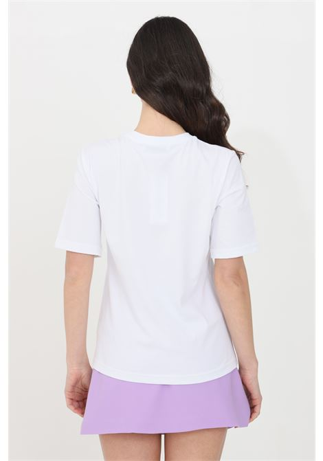 White t-shirt short sleeve feminista FEMINISTA | T-shirt | SELENABIANCO-LILLA
