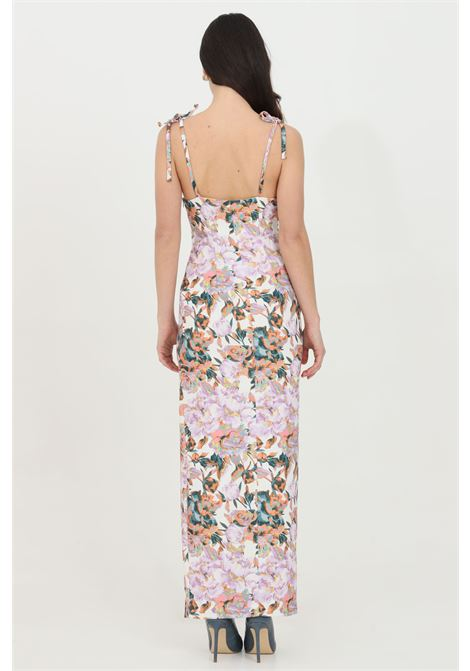 Long floral dress with sinuous lines. Brand: Feminista FEMINISTA | Dress | VENEREFANTASIA FIORI
