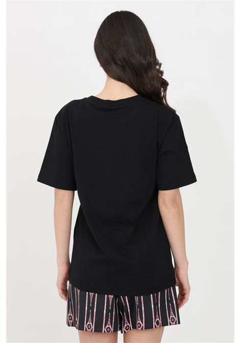 Black t-shirt short sleeve gaelle GAELLE | T-shirt | GBD8291NERO