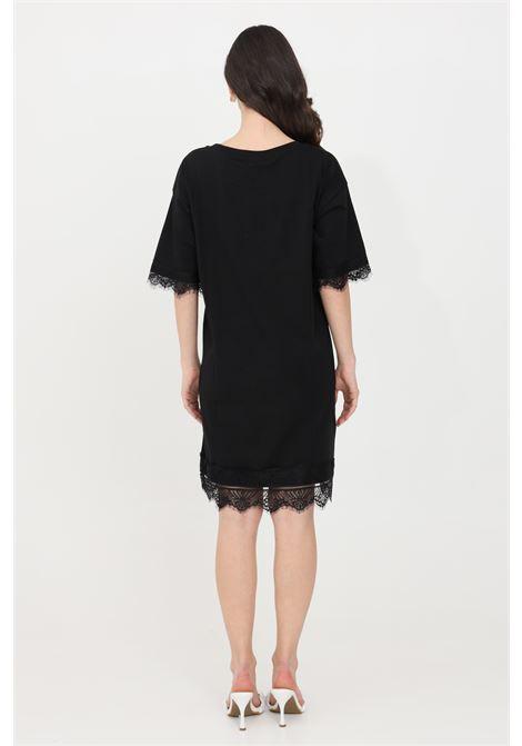 Black midi dress gaelle GAELLE | Dress | GBD8337NERO