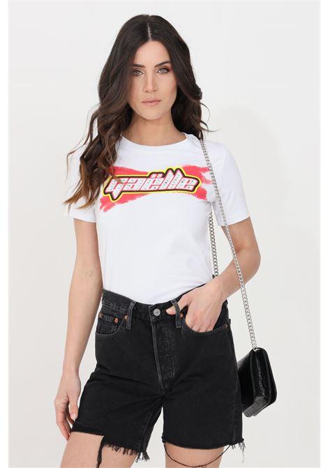 White women's t-shirt by gaelle, short sleeves GAELLE | T-shirt | GBD8448BIANCO