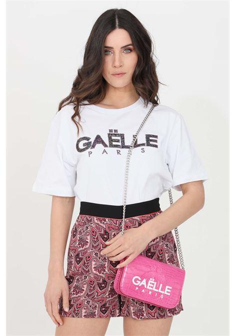 T-shirt donna bianco gaelle manica corta GAELLE | T-shirt | GBD8471BIANCO