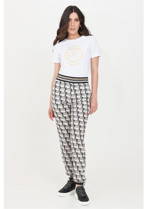 Pantaloni donna ghiaccio gaelle casual GAELLE | Pantaloni | GBD8571GHIACCIO