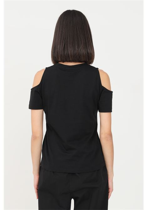 Black women's by gaelle with openings on the shoulders GAELLE | T-shirt | GBD8666NERO